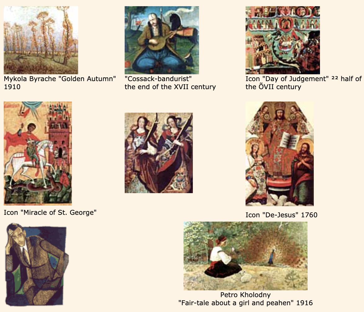 sample of famous Ukrainian Paintings